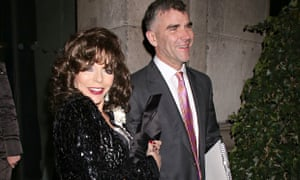 Joan Collins and Ivan Massow at the Conservative party's 'black and white ball' at Old Billingsgate market in London in February.