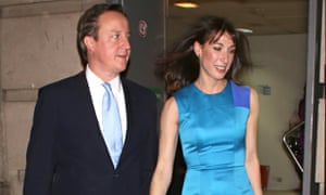 David and Samantha Cameron at the Conservative party black and white ball