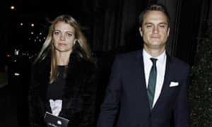 Jemma Kidd and Arthur Wellesley at the Conservative party 'black and white ball'