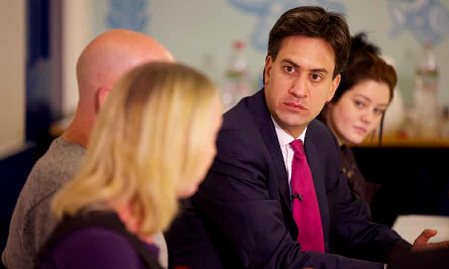 Ed Miliband during the Heywood and Middleton byelection campaign. 'The answer is not to enter a bidd