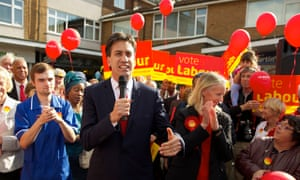 Ed Miliband, Liz McInnes canvassing in Heywood and Middleton