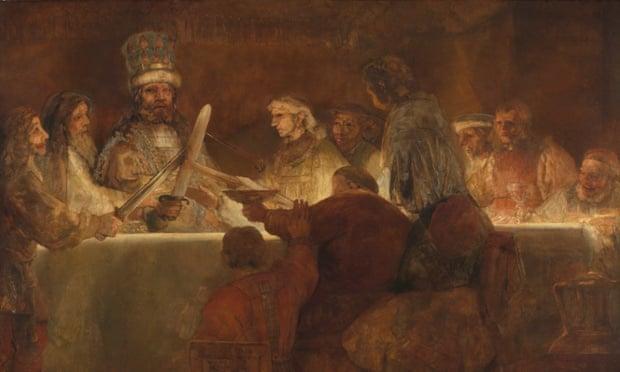 Rembrandt's The Conspiracy of the Batavians under Claudius Civilis.