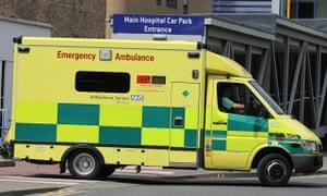 Ambulance in Cambridge