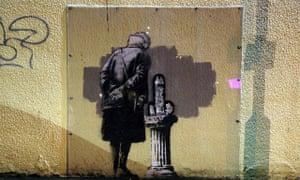 Banksy artwork in Folkstone, Kent, vandalised