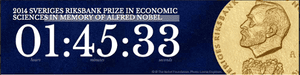 Countdown clock for the 2014 Nobel Prize for economics