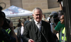 Defence Lawyer Barry Roux arrives at the Pretoria High for Oscar Pistorius' sentencing at the High Court in Pretoria.
