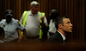 Oscar Pistorius appears in the Pretoria High Court  for the first day of the sentencing hearing in his murder trial.