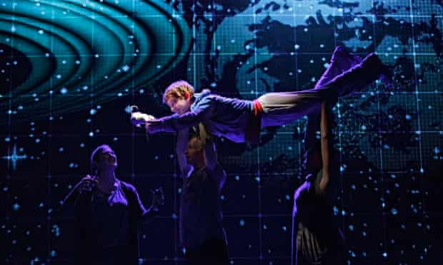 Alex Sharp in production of Curious Incident of the Dog in the Night-time