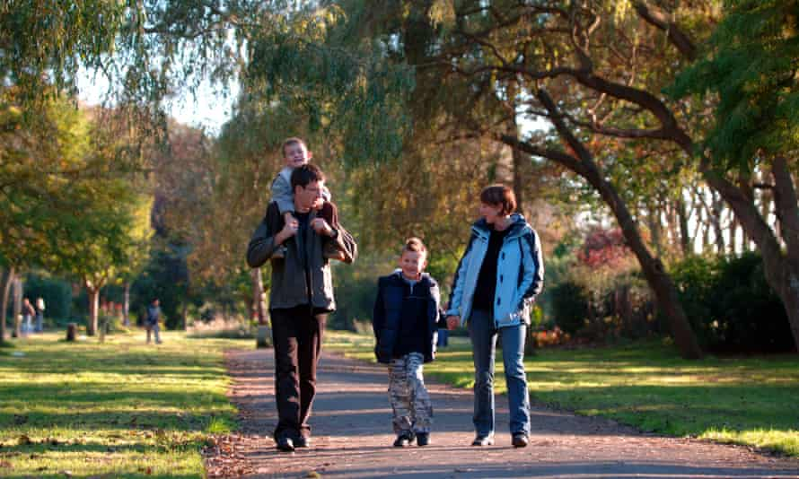 Family walk in Britain