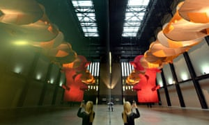The Turbine Hall featuring Richard Tuttle's installation.