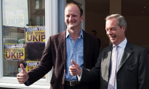 Ukip leader, Nigel Farage (right), with Douglas Carswell after he won the Clacton byelection