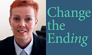 A photo portrait of Dawn Reeves alongside the book cover Change the Ending