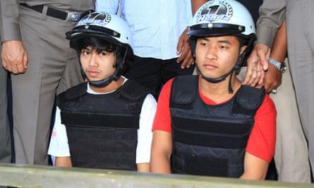 Zaw Lin, left, and Win Zaw Htun