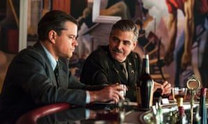 Matt Damon (lef), and George Clooney in The Monuments Men, which tells the story of how a team of allied men and women helped recover priceless artworks stolen by the Nazis.