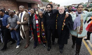 Ferguson protests clergy