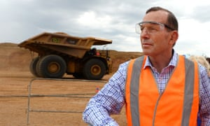 Tony Abbott at the opening of the Caval Ridge Coal Mine in central Queensland on Monday. The mine will produce 5.5m tones a year of metallurgical coal.