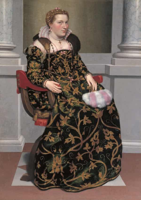 Isotta Brembati, c.1555, by Giovanni Battista Moroni