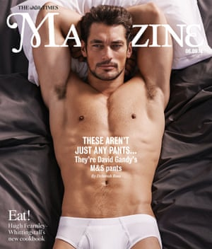 David Gandy on the cover of The Times Magazine