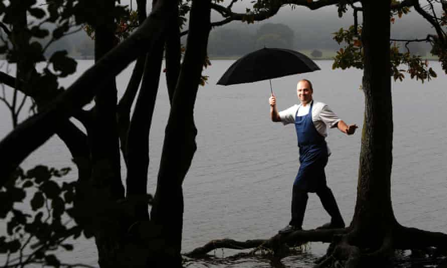 L'Enclume's Simon Rogan by Coniston water in the Lake District, Cumbria, UK.