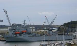 RFA Argus in Falmouth