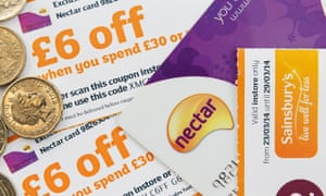 Sainsbury's Nectar card and vouchers
