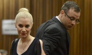 Oscar Pistorius passes ex-girlfriend Samantha Taylor