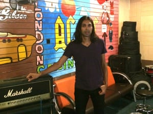 Arun Ghosh at Vox rehearsal space in Wuhan