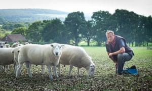 Richard Stephens at Monkshill Farm.
