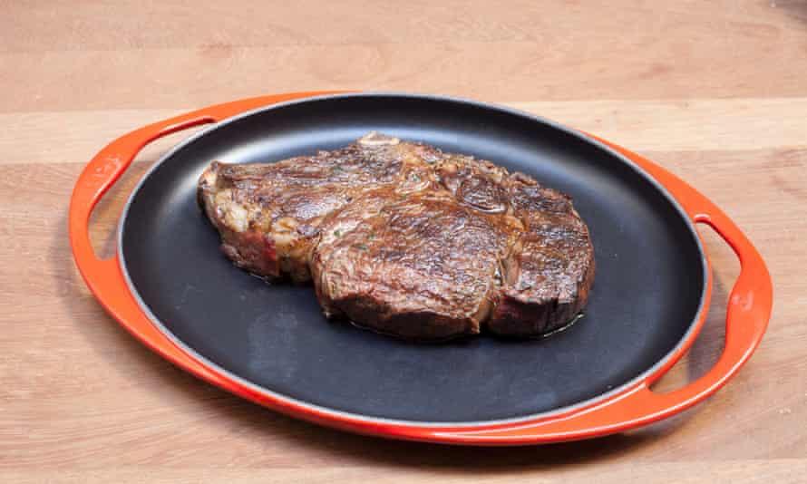 Chunk of rib-eye steak at Beast.