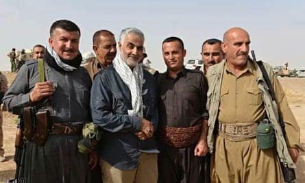 Qassem Suleimani third from left