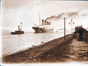 Titanic leaving Belfast