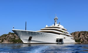 Roman Abramovich's luxury yacht, Eclipse.