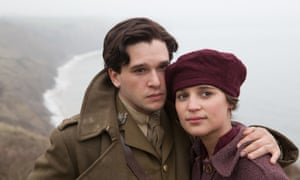 Alicia Vikander with Kit Harington in Testament of Youth