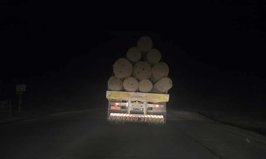 A truck  loaded with timber often travel at night when inspections are less common.  An investigation by Greenpeace used covert GPS locator beacons to monitor logging trucks.