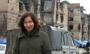 This picture, released by Memorial, shows Russian human rights activist Natalya Estemirova in Grozny in 2004, who was found dead in 2009. She had been investigating cases of kidnapping and murder.