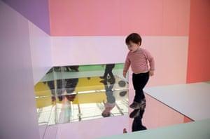 Carsten Holler's installation; Gartenkinder.