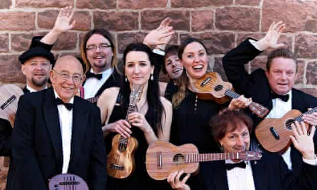 The United Kingdom Ukulele Orchestra, which claims its rivals are 'more of an amateur orchestra'.