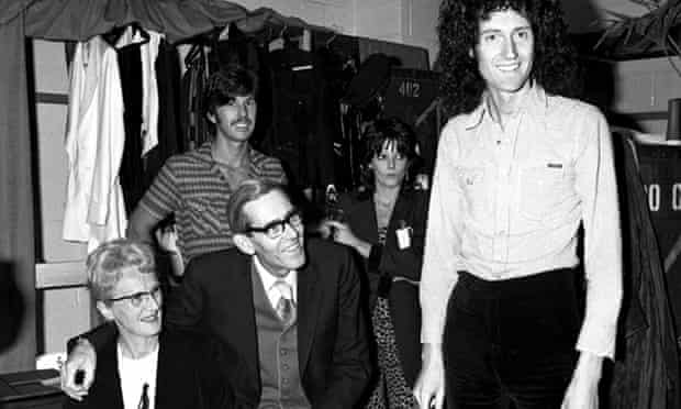 Brian May with his mother and father
