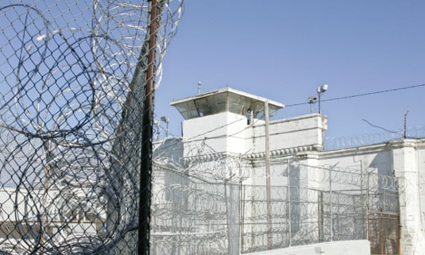 A guard tower and razor wire are pictured at the Oklahoma State Penitentiary in McAlester, Oklahoma, where Clayton Lockett was executed.