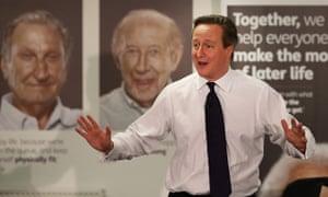 David Cameron at Age UK