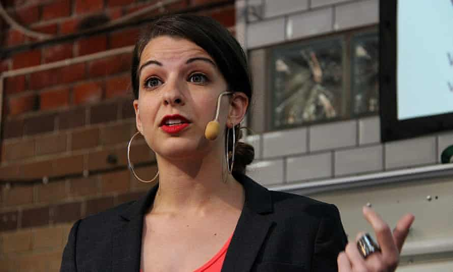 Anita Sarkeesian talks at the Media Evolutions Conference in 2013.