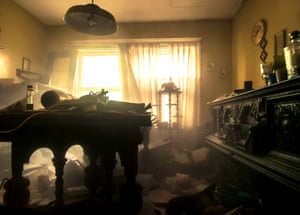 """Light streams through the window of a long-forgotten lounge. Joo says: """"It's really just the craziest feeling being in these places. They are pretty much forgotten time capsules of a past life."""""""