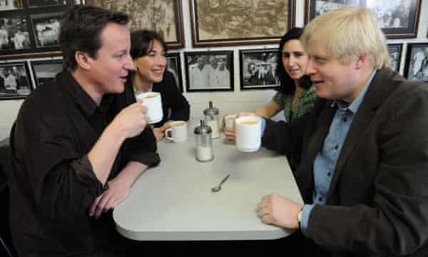 Full English: abreakfast meeting at Billingsgate Market with David and Samantha Cameron.