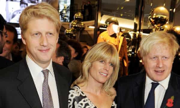 A family affair: with brother Jo Johnson and sister Rachel Johnson.