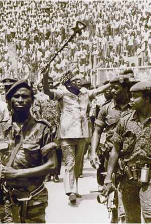 President Mobutu Sese Seko in 1977.