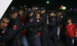 In the early hours of the following morning, Albanian fans congregated at Tirana's Mother Teresa airport to await the arrival of the team