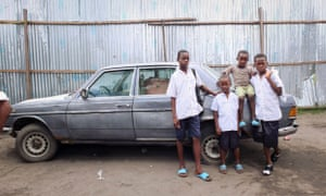 Young boys on the streets of Kinshasa – some say the city has never recovered from Mobutu's time in charge.