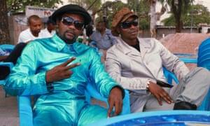 Flamboyant dressers in modern-day Kinshasa