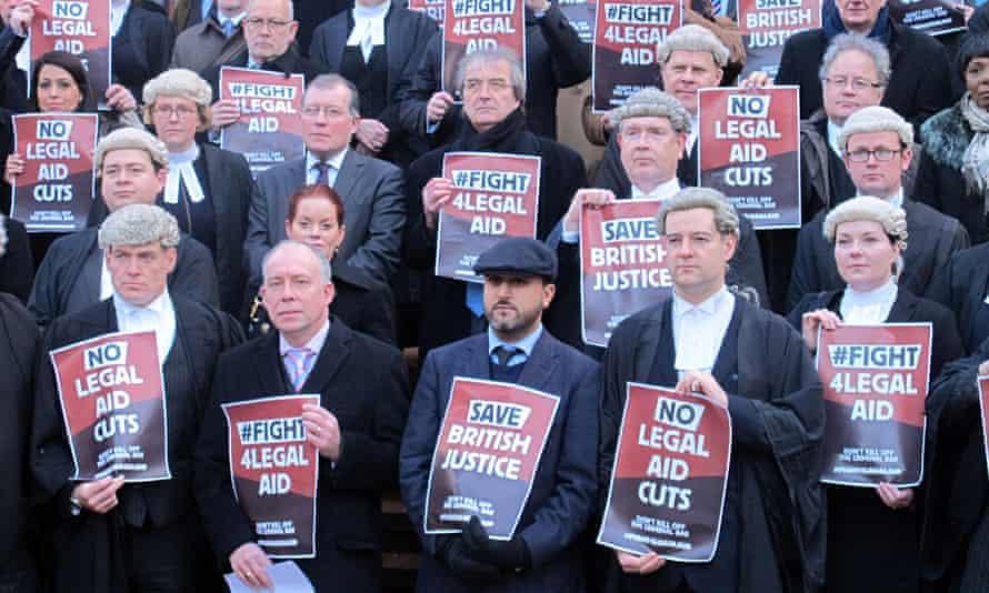 Legal aid walk-out