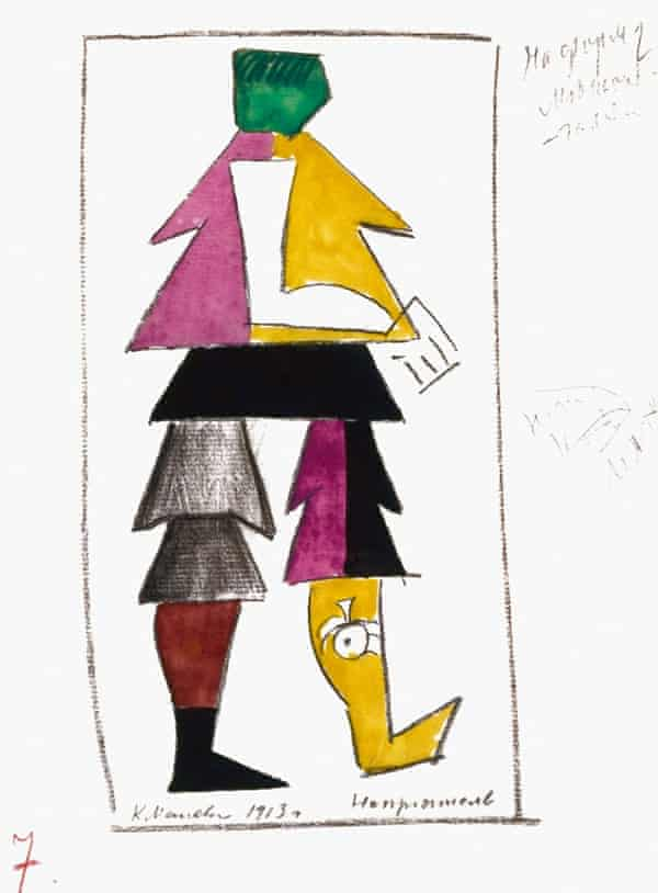 Malevich costume Victory Over the Sun russian avant-garde V and A